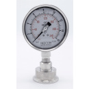 náhled produktu All-stainless Steel Pressure Gauge With Separating Membrane CLAMP DIN 32676, 100mm | 0-4 bar