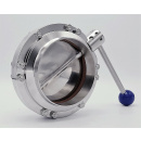 náhled produktu Stainless Steel Butterfly Valve, Welded, type S-S | DN125