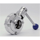náhled produktu Stainless steel butterfly valve, welded type S-S | DN40