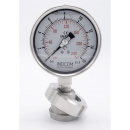 náhled produktu Stainless steel manometer, dial 100 mm, with separating membrane, nut DN32 | 0-16 bar