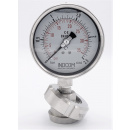náhled produktu Stainless steel manometer with separating membrane, union DIN 11851, dial 100 mm, Nut DN32 | 0-2,5 bar