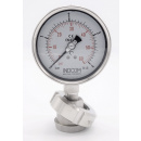náhled produktu Stainless steel manometer with separating membrane, union DIN 11851, dial 100 mm | 0-4 bar